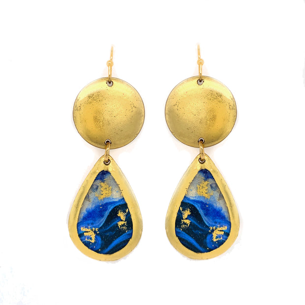 Cast Yourself on Every Wave Mini Teardrop Earrings