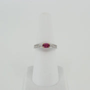 Ruby Ring with Gold Basket