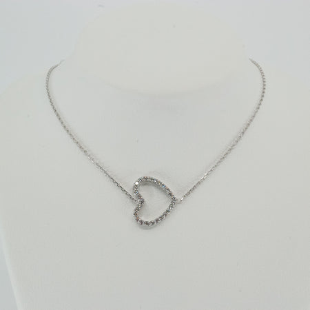 Horizontal Heart Diamond Necklace