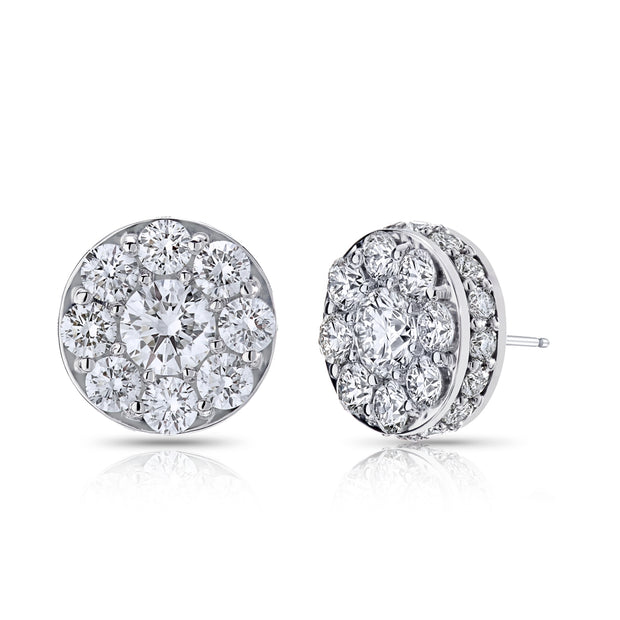 Spark Diamond Illusion Earrings 1.48cttw/18KW