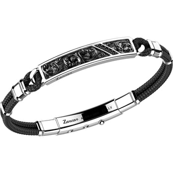 Men's Silver and Steel Bracelet