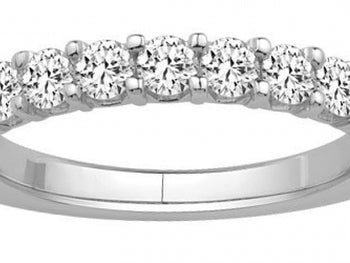 14kt White  Gold11 Stone Diamond Band