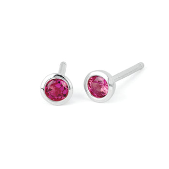 Tourmaline Bezel Set Stud Earrings