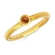 Citrine Bezel Set Ring