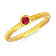 Ruby Bezel Set Ring