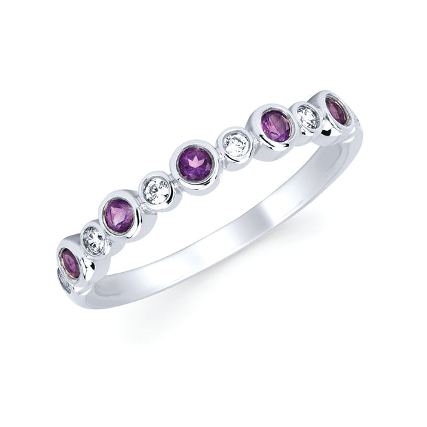 Diamond and Amethyst Ring