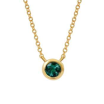 Emerald Bezel Set Pendant