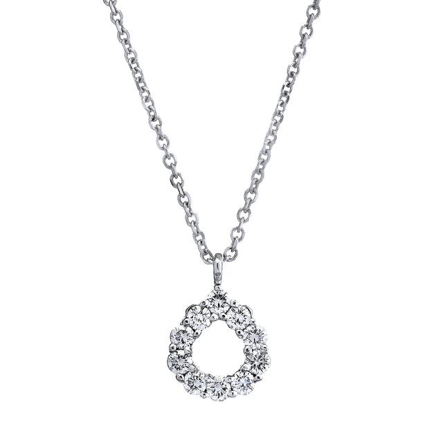 Spark Diamond Tear Drop Necklace 18KW