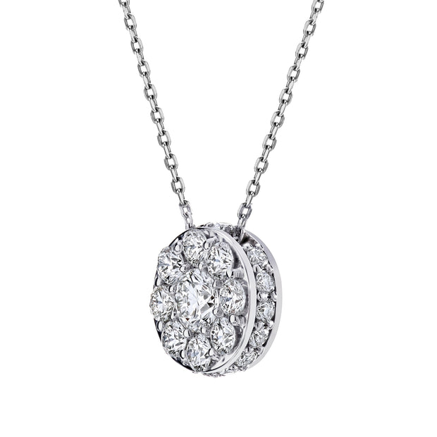 Spark Diamond Illusion Necklace 18KW or 18KY