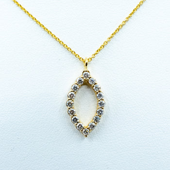 Spark Marquise Shape Diamond Necklace 0.43cttw