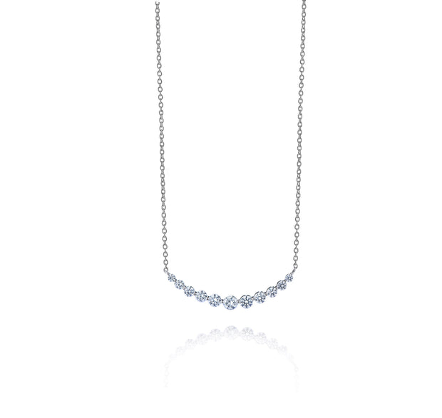 Spark Diamond Expression Necklace 0.85cttw/18KW