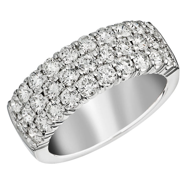 Spark Celebration 3-Row Diamond Band