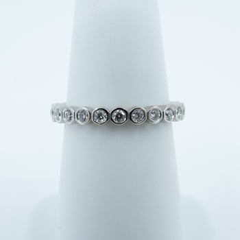 Spark Bezel Set Eternity Diamond Band 0.56cttw/14KW