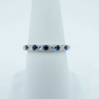 Spark Diamond and Sapphire Ring .30cttw/.21cttw