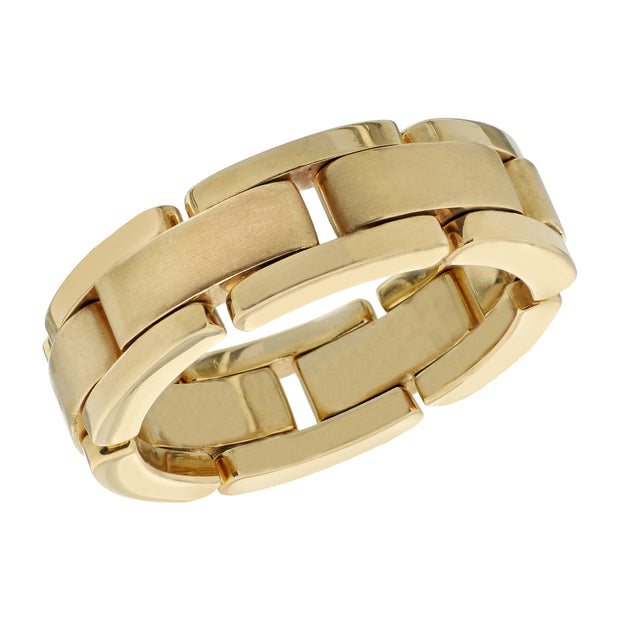 Spark Link Band 18K Yellow Gold Band Size 10.5