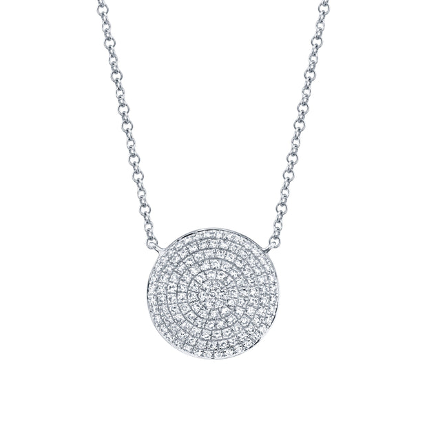 Circle Disc Diamond Pendant