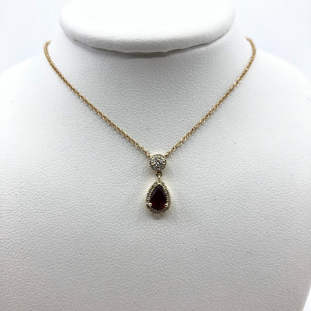 Ruby Necklace in Yellow Gold