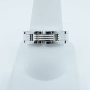 Spark Link Band 18K White Gold Band Size 10
