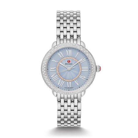 Blue Serein Mid Diamond Dial Watch