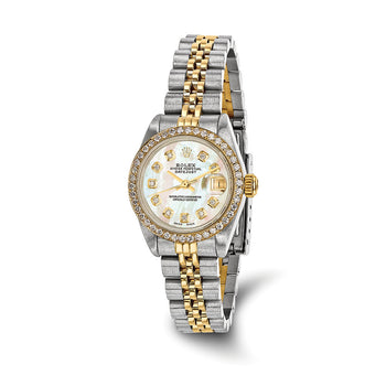 Pre-Owned Independently Certified Rolex Steel/18ky Ladies Diamond MOP Watch