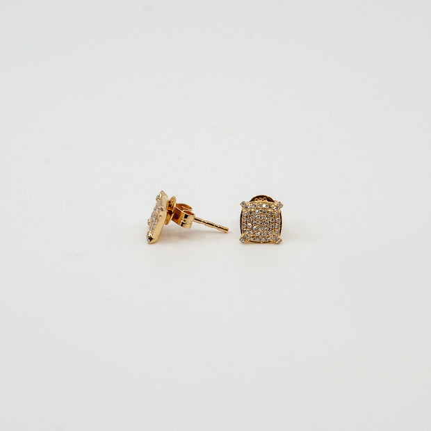 Diamond Pave Stud Earrings .19cttw