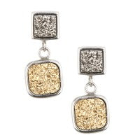 Sterling Silver Drusy Earrings