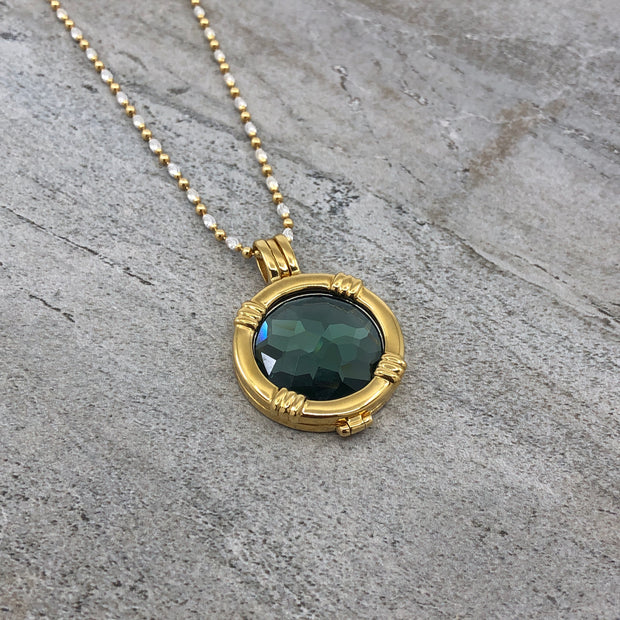 Ocean Green Disc Pendant
