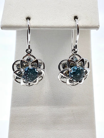 DavinChi Cut Topaz Earrings