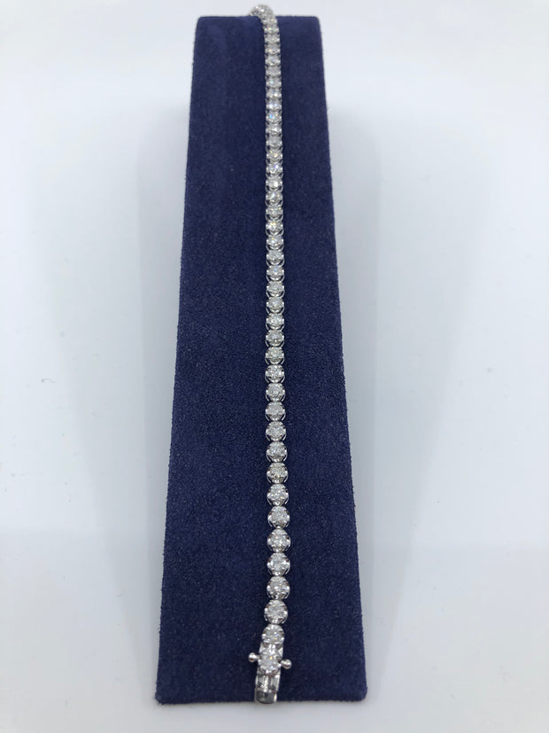 "Diamond Tennis Bracelet 7"" 3.5 cttw"