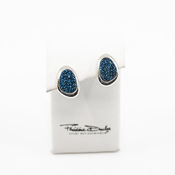 Blue Drusy Wanda Earrings