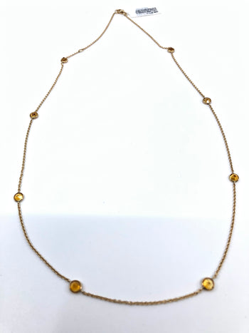 Citrine By The Yard Necklace