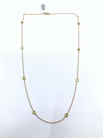 Peridot By The Yard Necklace