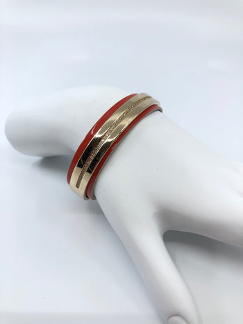 Bandeaup Cuff Bracelet with Insert