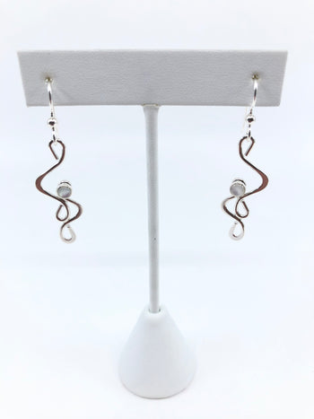 Sterling Silver Jinx Earrings with Mother of Pearl
