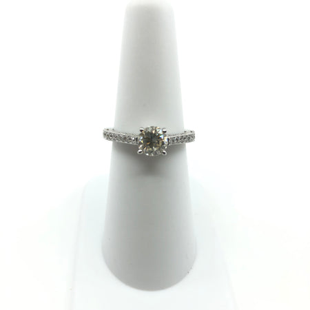 Cathedral Style Diamond Engagement Ring 1ct Center