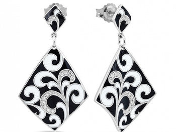 Contessa Black Earrings