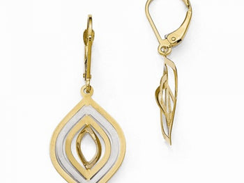 14kt Yellow Gold Leverback Earrings
