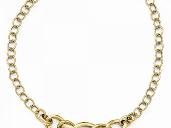 14kt Yellow Gold Fancy Link Necklace