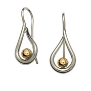 Mana Earrings with Gold Ball