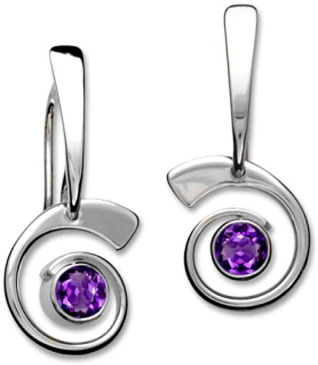 Nautilus Amethyst Earrings