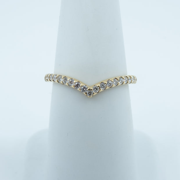 Spark Chevron V-Shape Diamond Band 0.33cttw/18KY