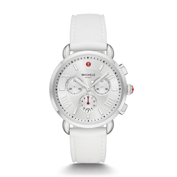 Silver White Sport Sail Watch