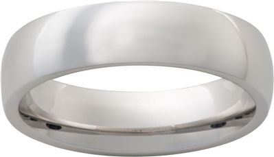 Vitalium 6mm Dome Mens Wedding Band