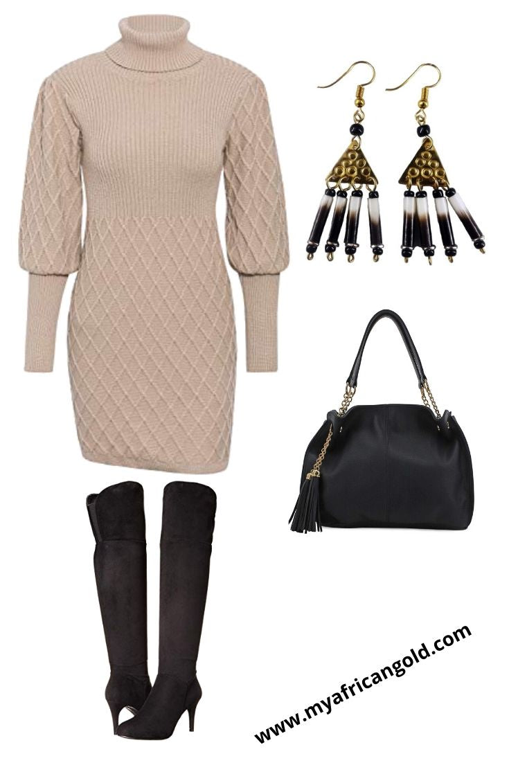 over the knee outfit idea