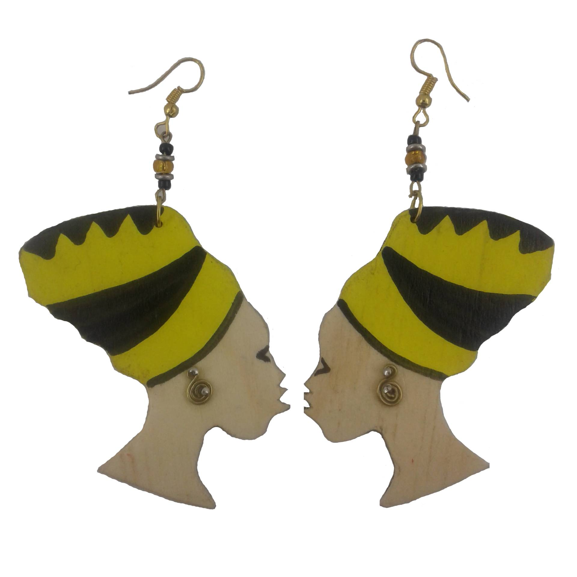 Afro dangle earrings
