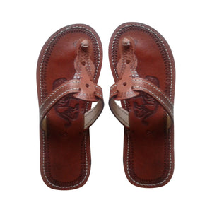Boys' leather sandals