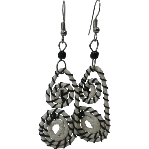 Double spiral dangling earrings