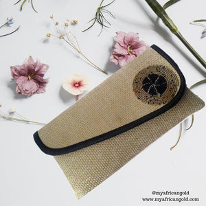 Beige African Clutch Bag