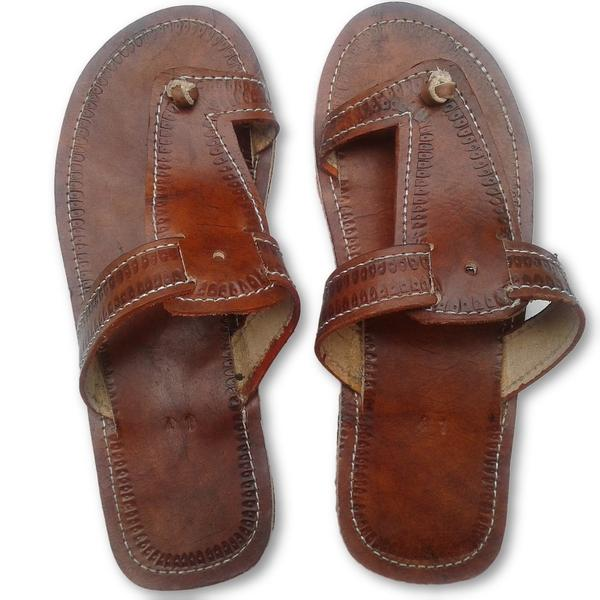 Men's leather sandals - My African Gold