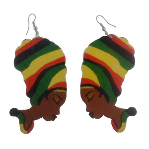 Multicolored Jamaican reggae colors